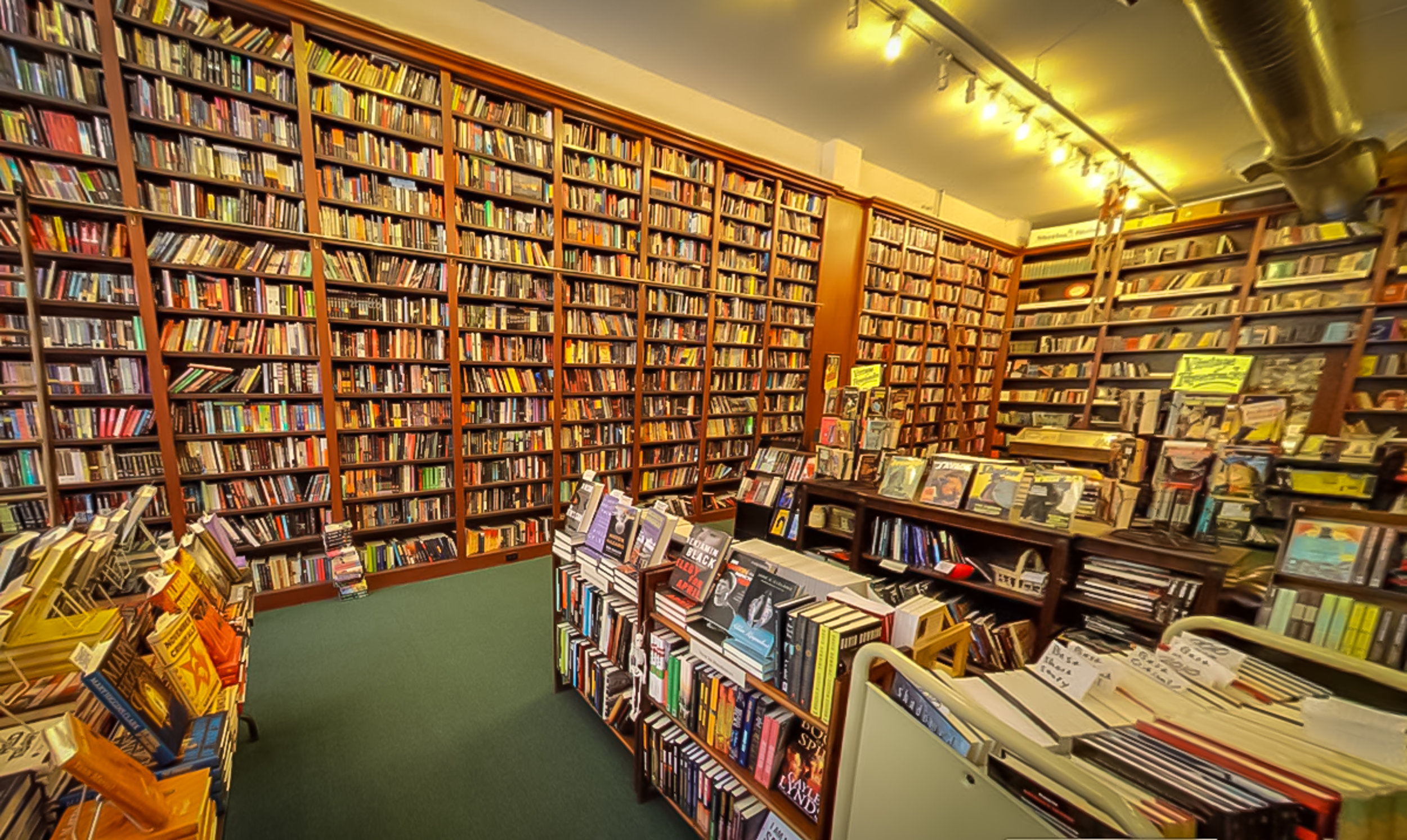 THE MYSTERIOUS BOOKSHOP MAIN HALL. PHOTO: LUCAS COMPAN