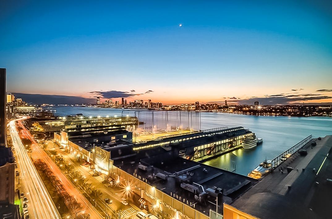 Aerial view of Chelsea Piers complex. image  @chelseapiersnyc