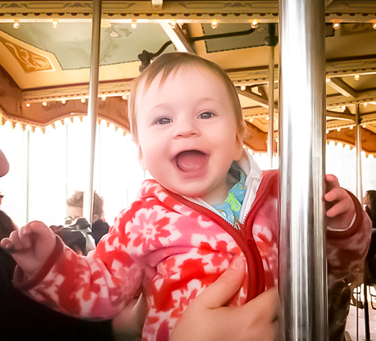 Jane's carousel and brooklyn bridge park means fun for kids of all ages. photo: Mimi O'Connor
