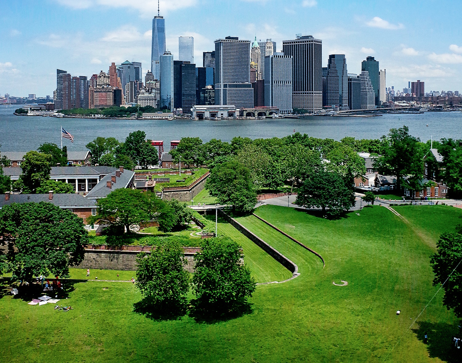 Lower Manhattan pictured from Governor's Island. Image: Governor's island