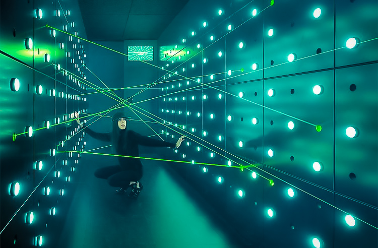 visitors uncover the truth with lie detectors, put their flexibility to work in a room full of laser beams and learn about spies like Alan Turing, who cracked the Enigma code. Image: Spyscape