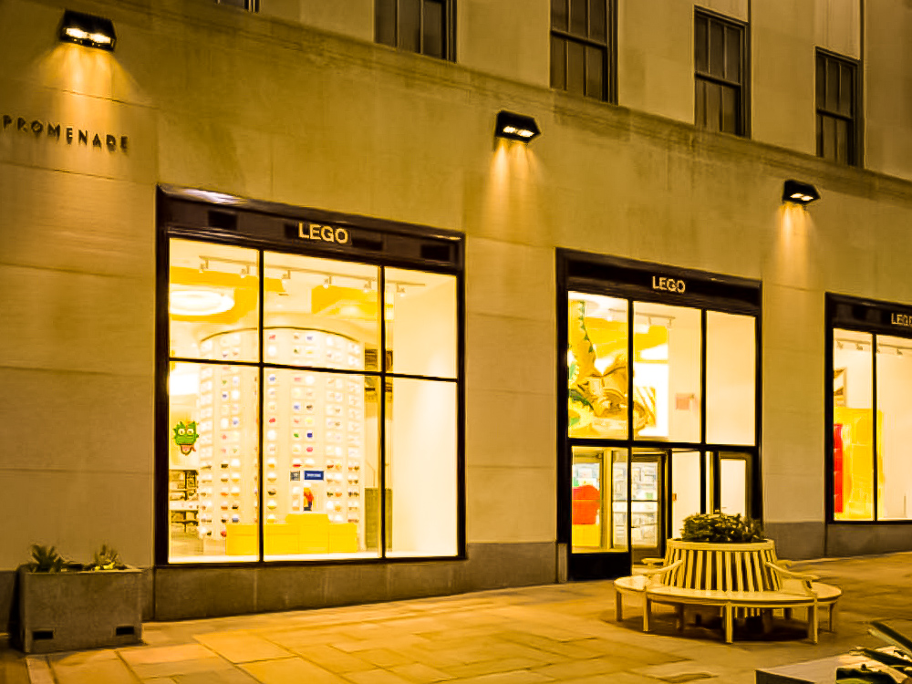 lego store at the rockefeller center, new york city. image: courtesy  lego®