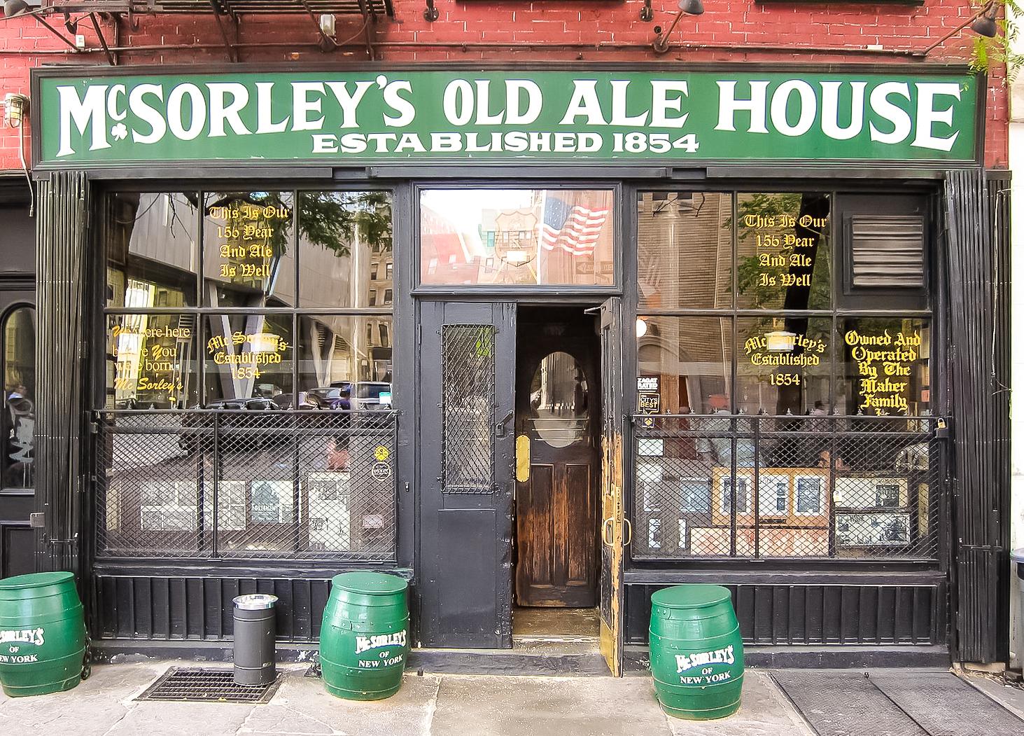 Established in 1854, Abraham Lincoln once visited McSorley's