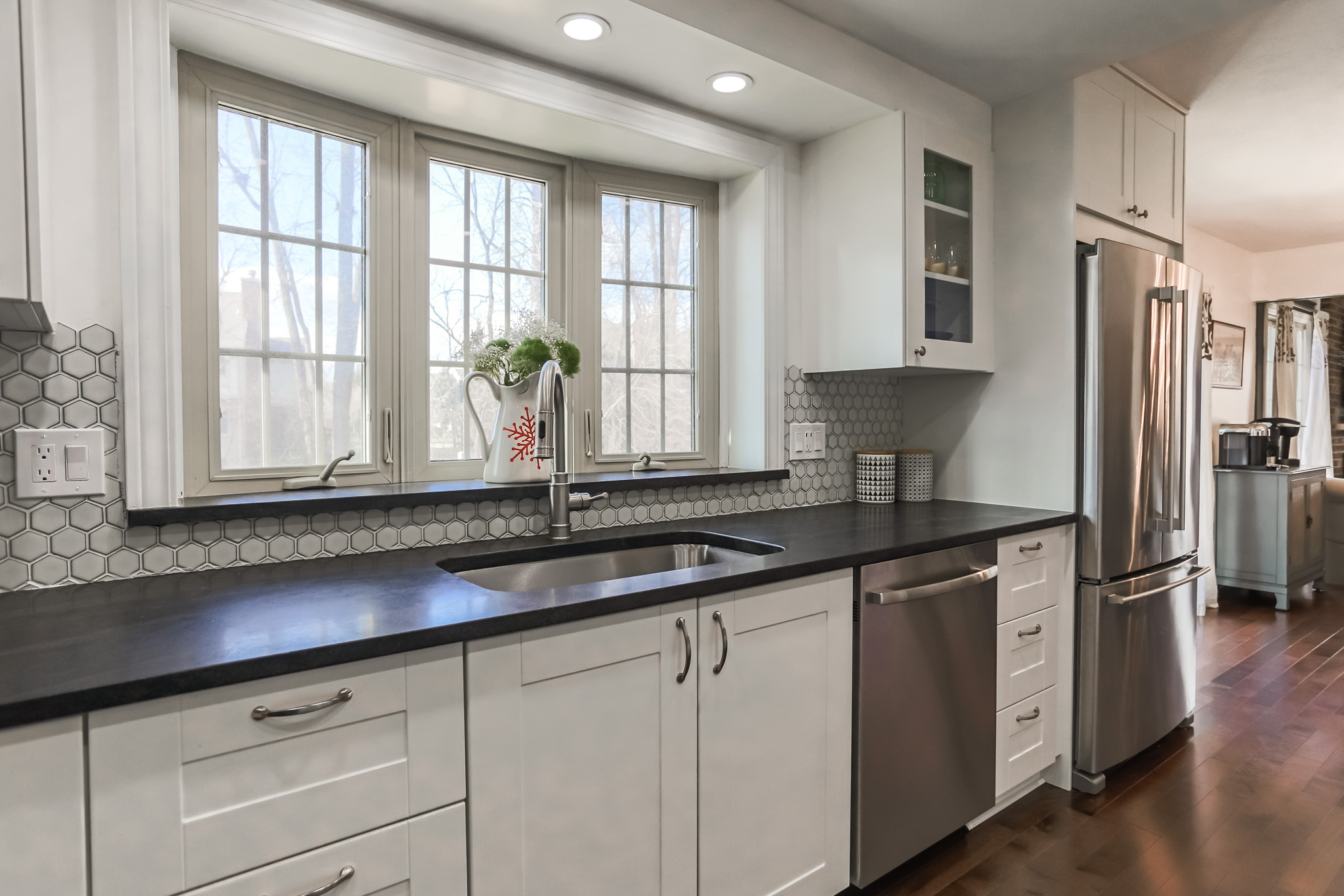 We turned a tiny cramped kitchen into an open, chic space
