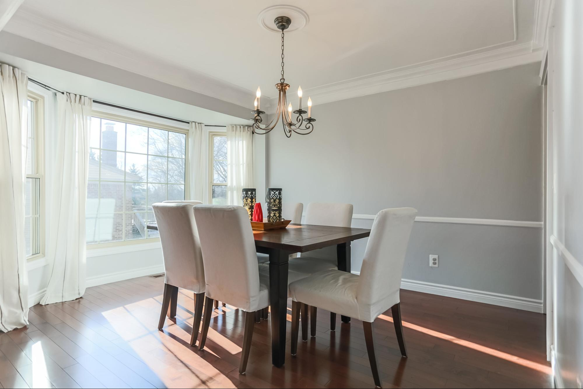 The formal dining area. I adore how the light falls into this room.