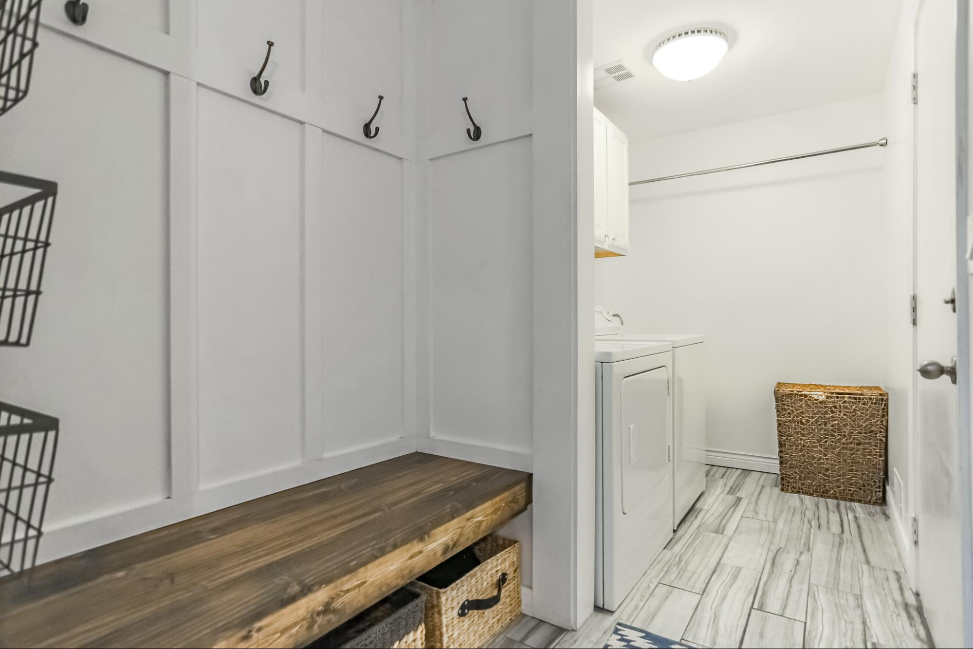 Our gorgeous mudroom. I'm so happy with how this project turned out!