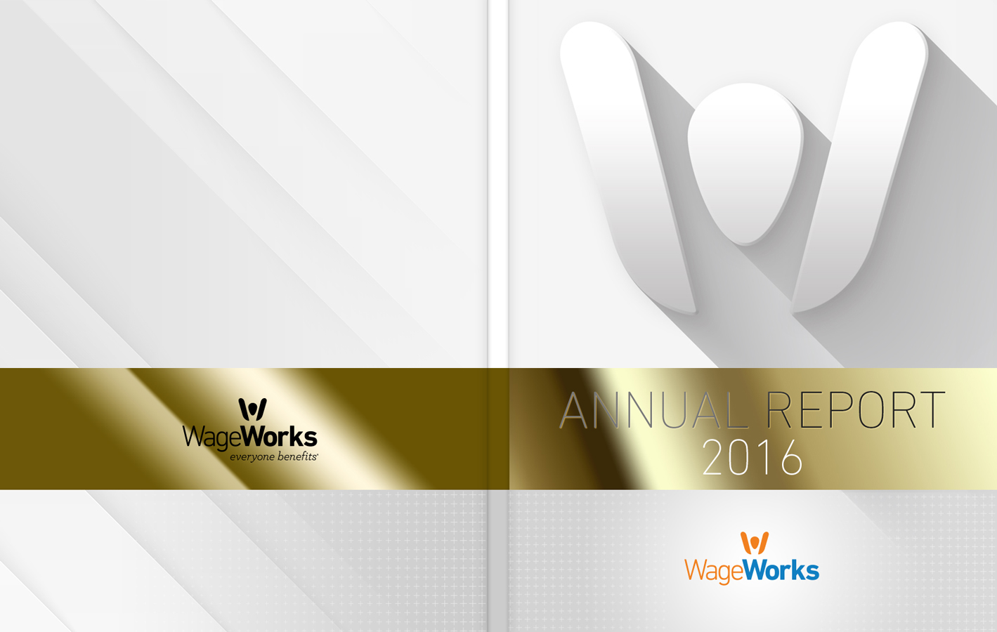 WageWorks Annual Report Cover Design