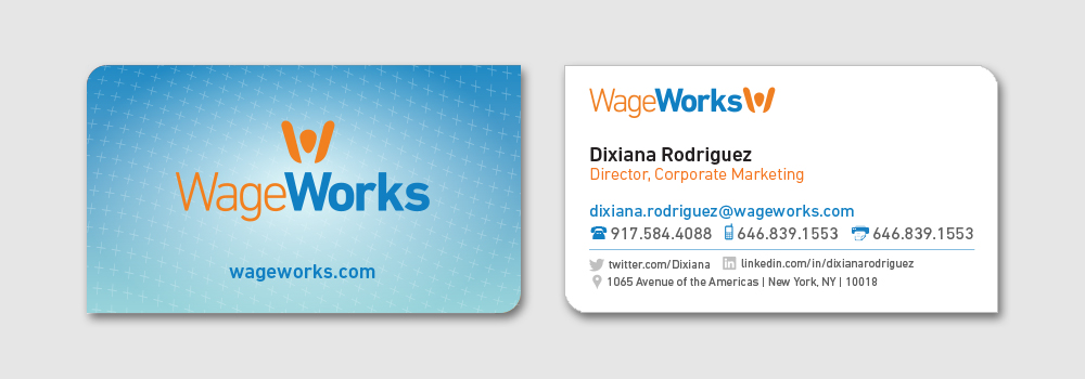 WageWorks Business Card Design