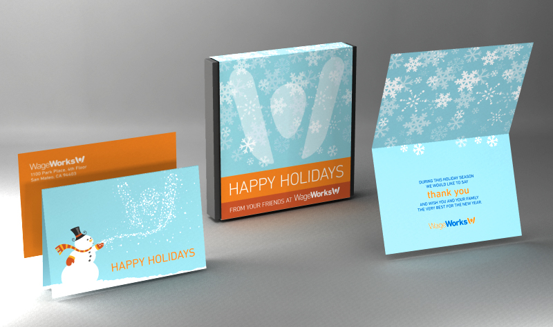 Holiday Gift Box and Card Design