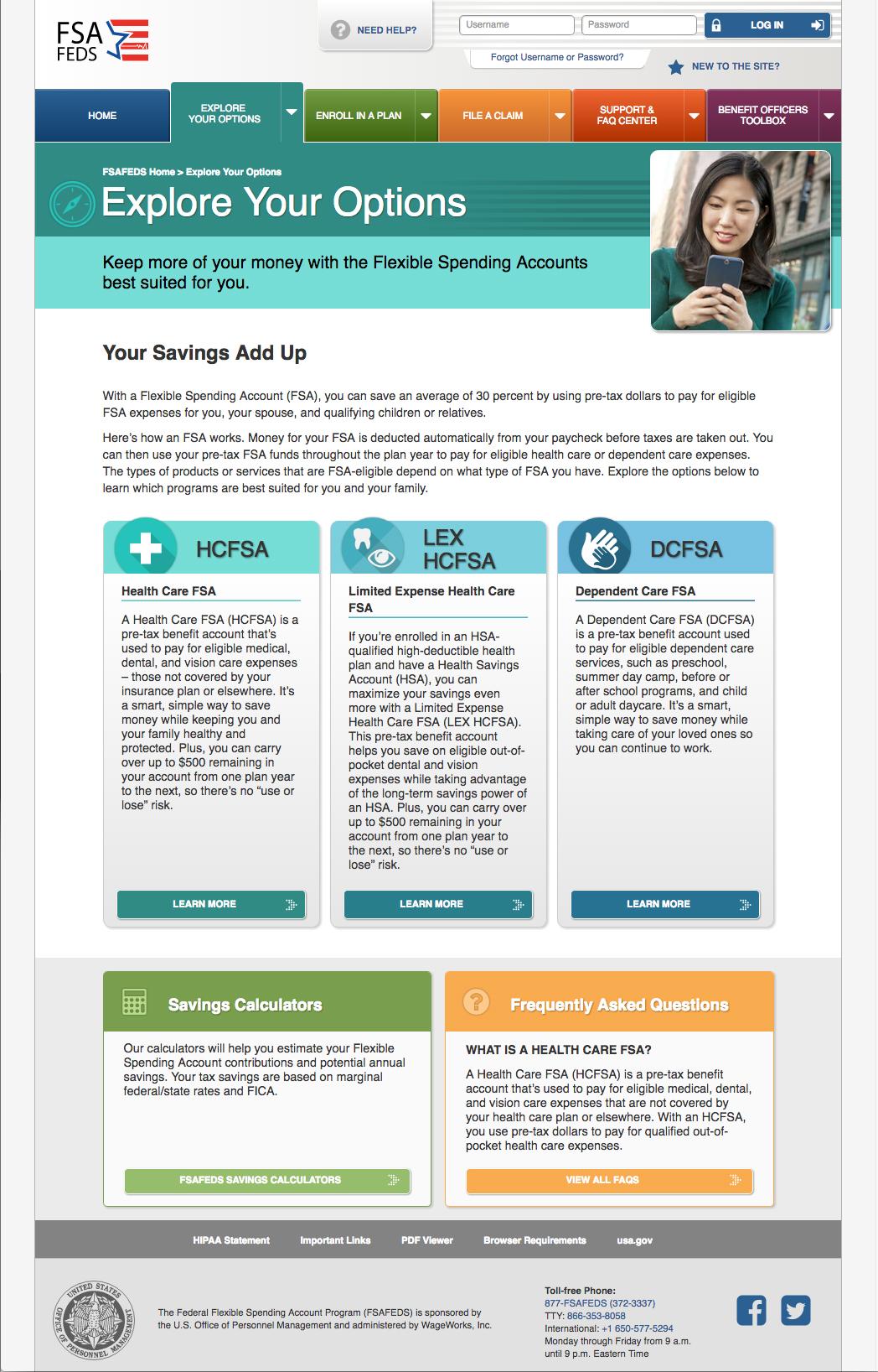 FSAFEDS Landing Page 1