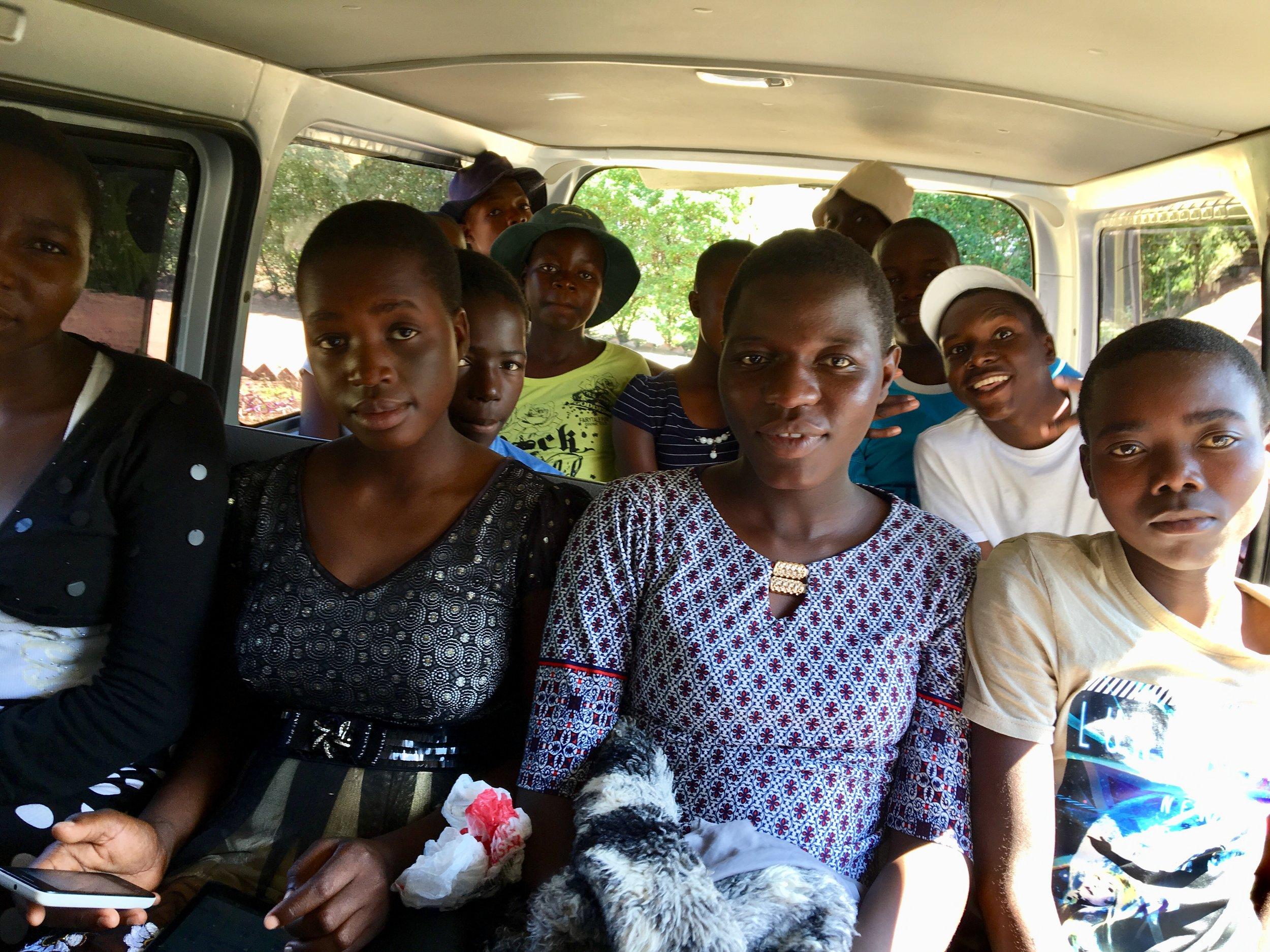 a full van en route to a big adventure!