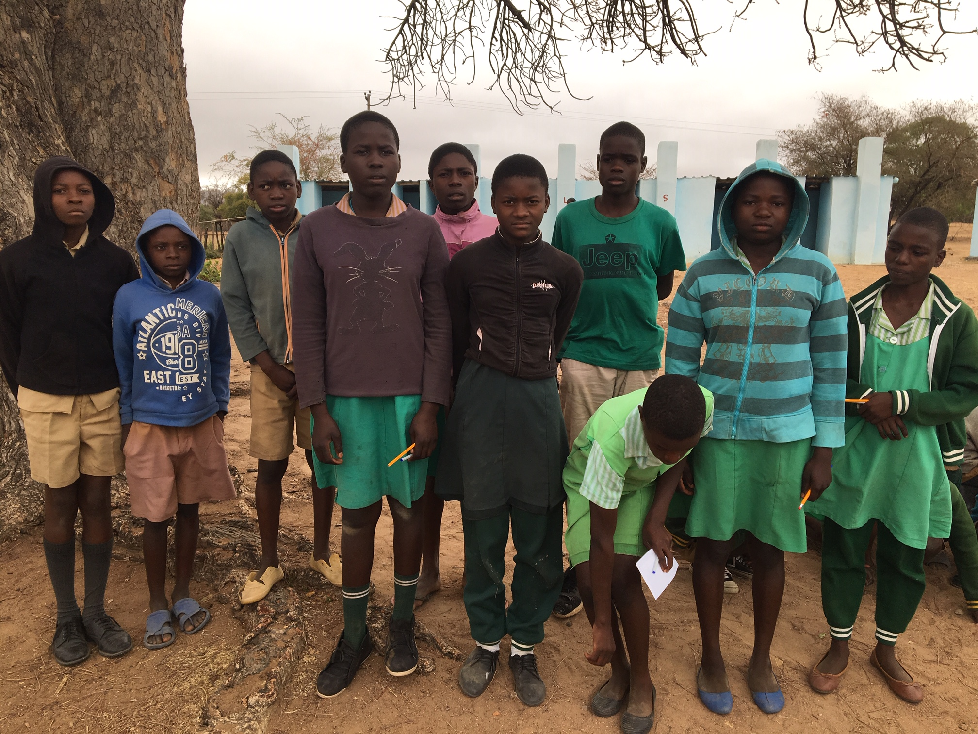 Musvovi Grade Seven students: they had just finished a FOUR HOUR national exam. The results of these tests determine their ability to continue on to secondary school. Today was the Math exam and they all said the math was easy!