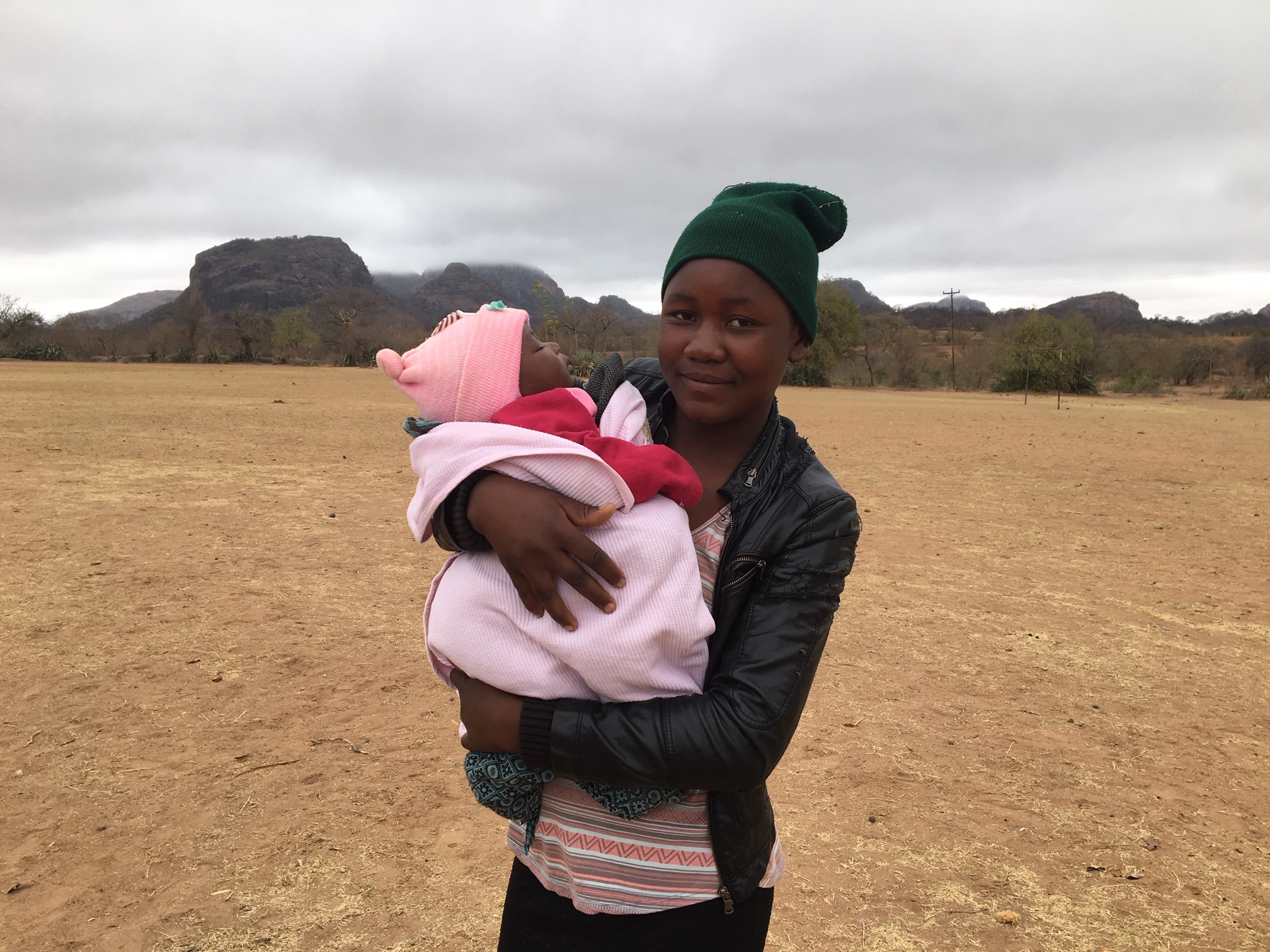 """Baby Alice: mother brought her 5month old to Musvovi today for the """"baby clinic"""" done by the district health office."""