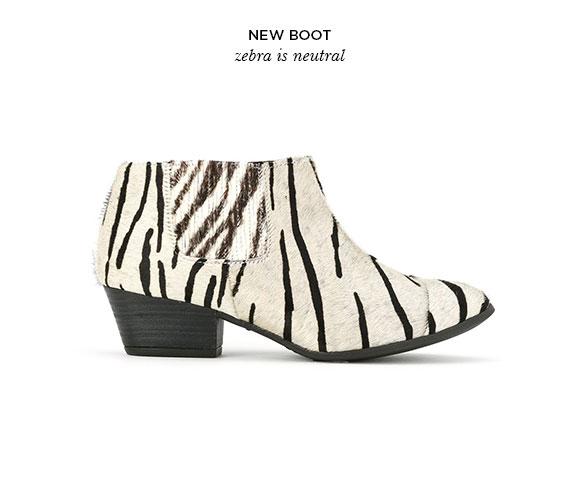 new boot - Bota de Zebra
