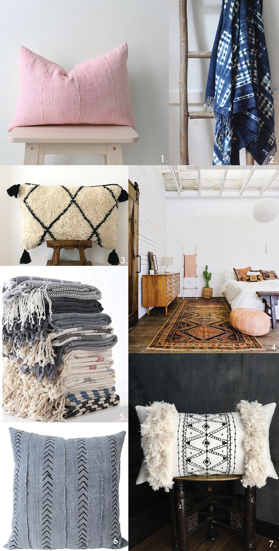 boho decor - Where to shop for boho pillows