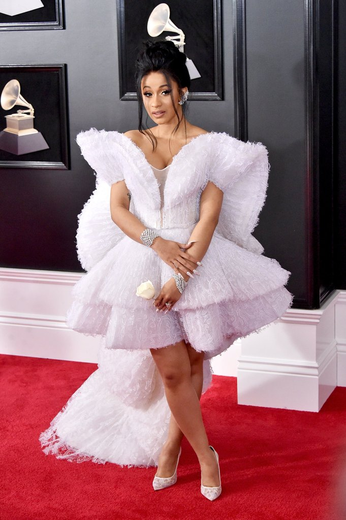 Cardi B Ashi Grammys Dress 2018 - Os looks do Grammys favoritos da nossa fashion editor