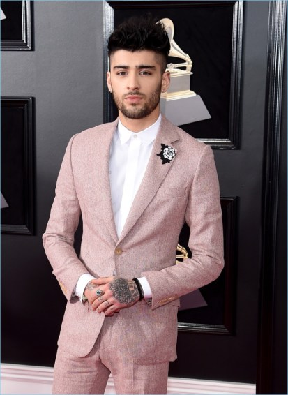 Zayn Malik 2018 Pre Grammy 002 - Os looks do Grammys favoritos da nossa fashion editor