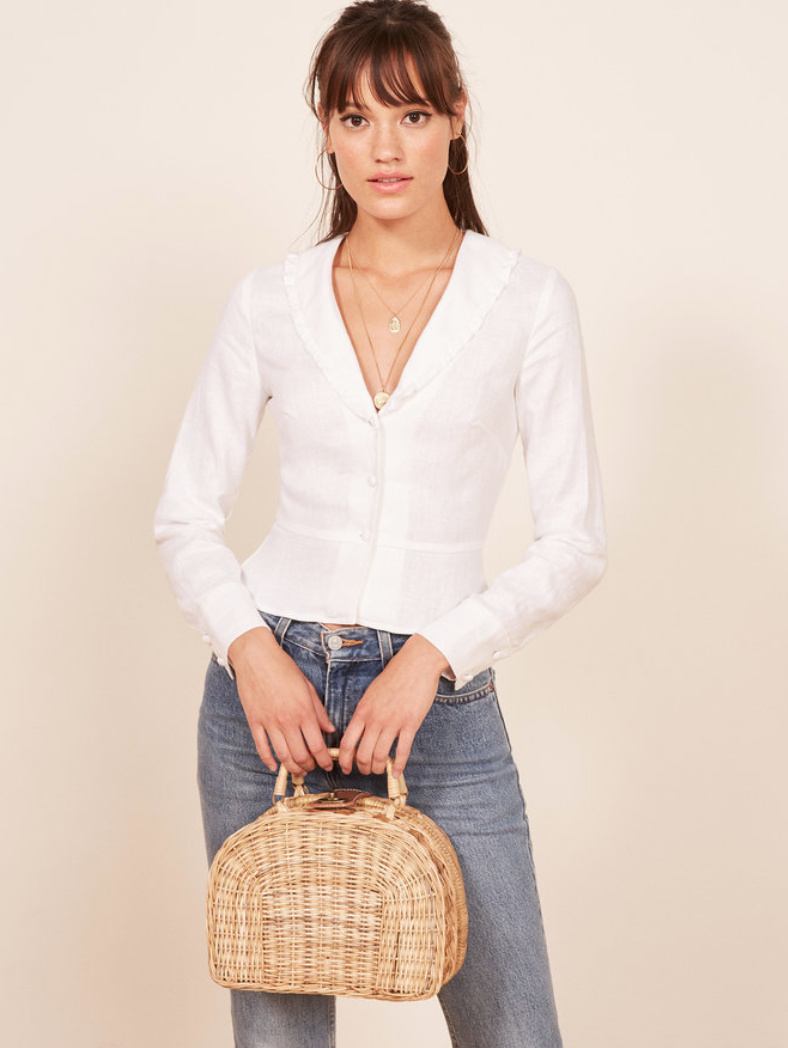 Reformation blouse -  shop here