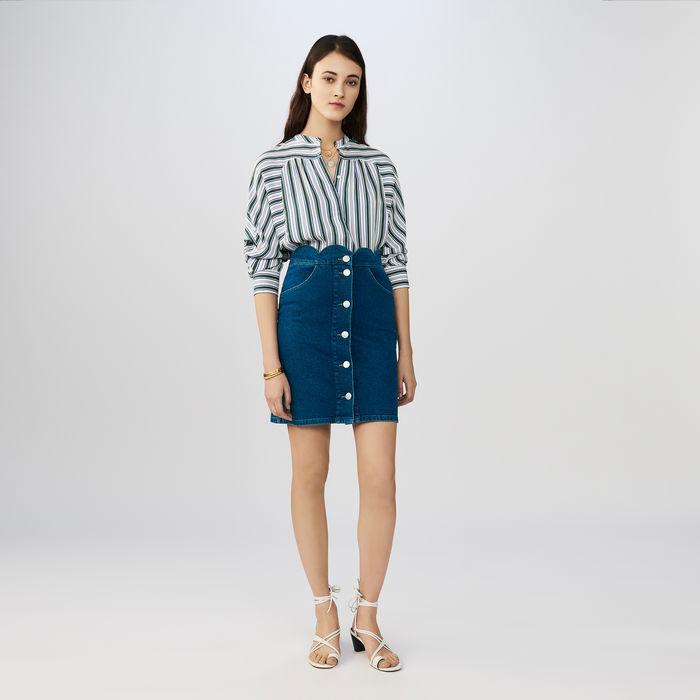 Saia jeans Maje -  shop here