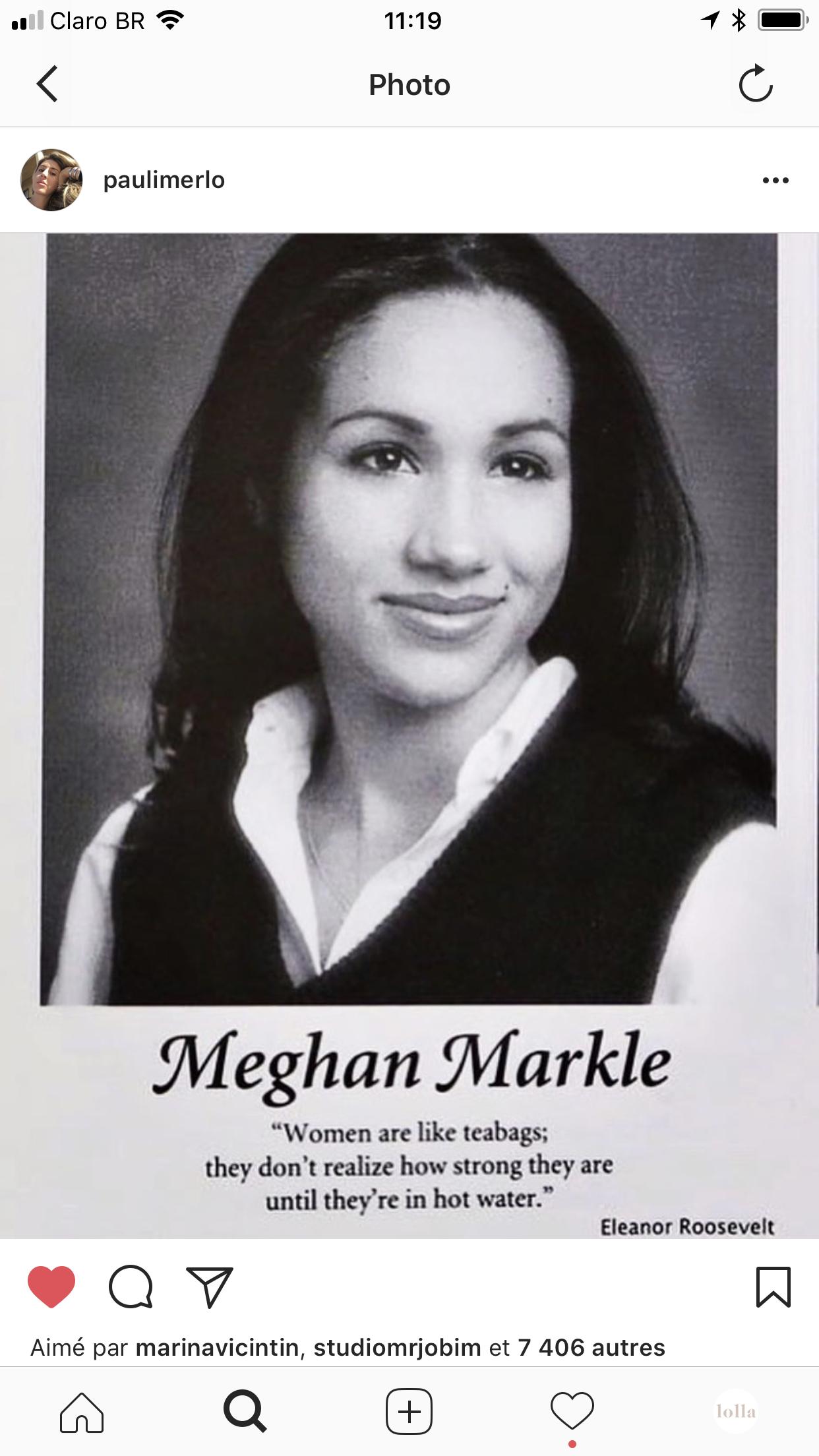 meghan markle - A citação da Meghan Markle no yearbook de formatura que mudou a minha vida