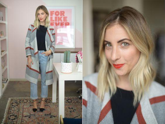 emily schuman 5 - Montando Um Guarda-Roupa Inspirado nas Nossas Girlbosses Favoritas Que Amam Jeans