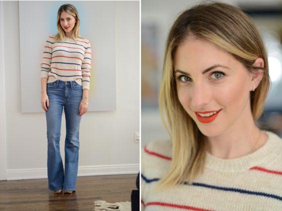 emily schuman 6 - Montando Um Guarda-Roupa Inspirado nas Nossas Girlbosses Favoritas Que Amam Jeans