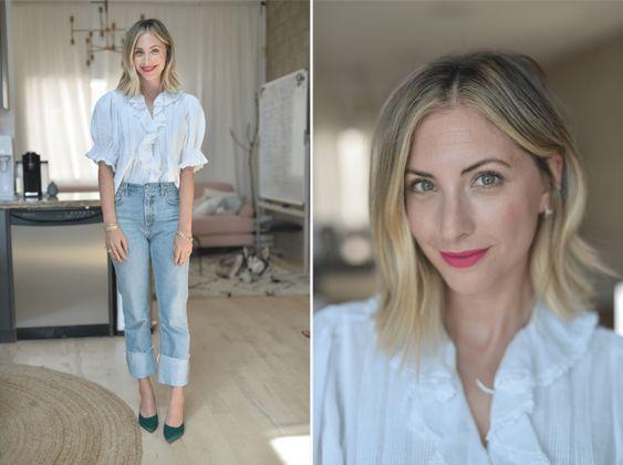 emily schuman 7 - Montando Um Guarda-Roupa Inspirado nas Nossas Girlbosses Favoritas Que Amam Jeans
