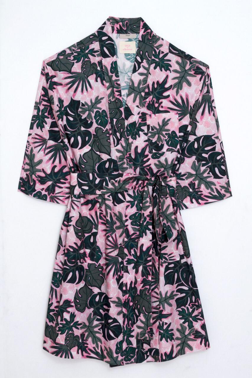 robe de chambre sissa dominique?format=original - O que acontece quando Sissa e Dominique Beauté se juntam? Um robe de chambre tropical, bien sûr.