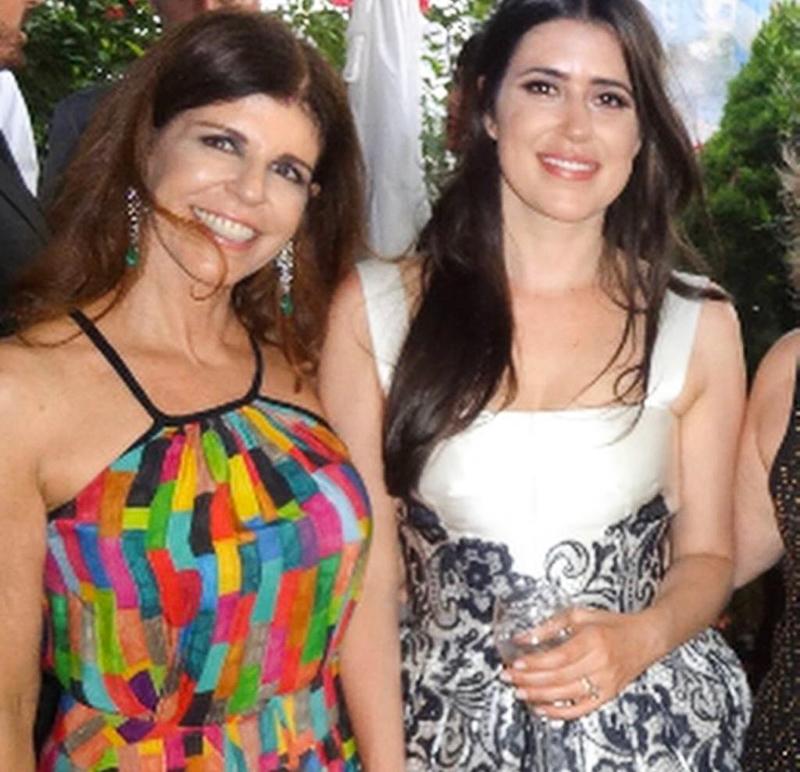 Marina Saleme no casamento da Ana Maria em NY
