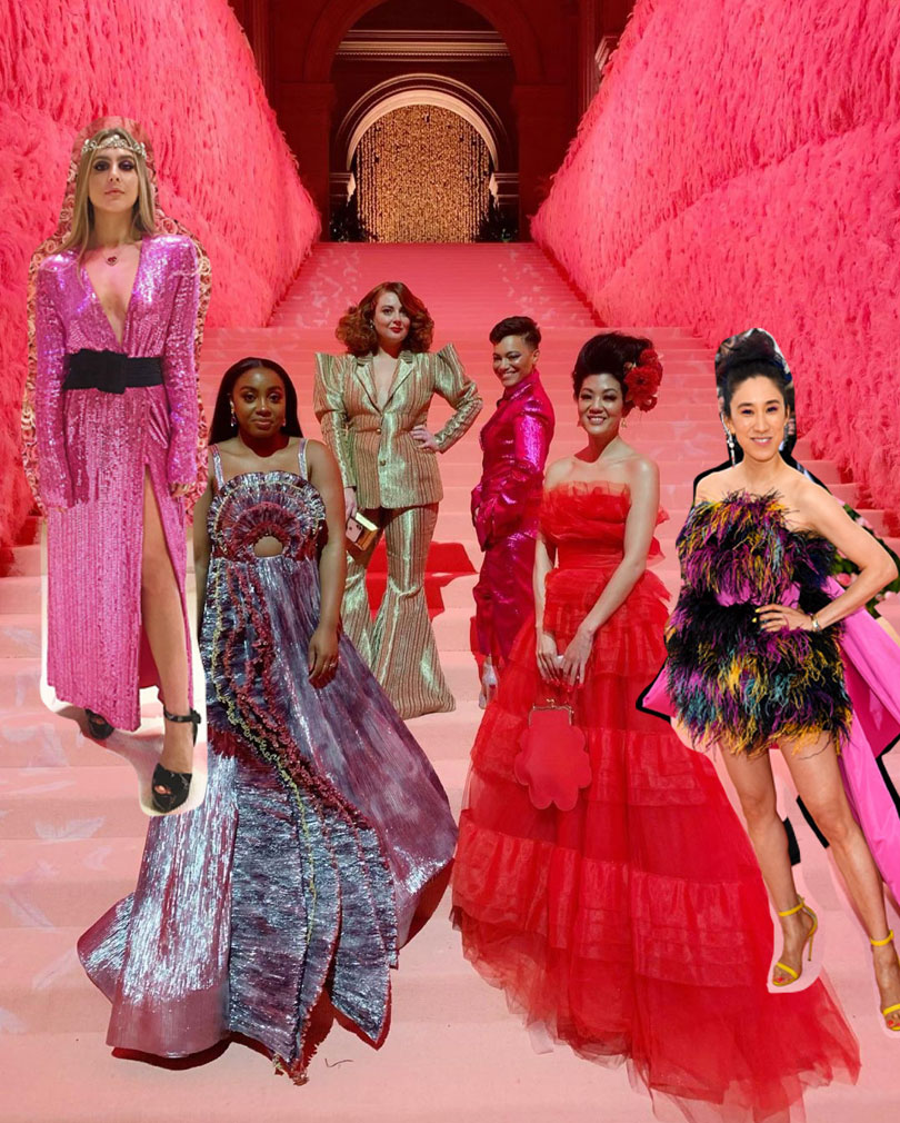 The Fashion Editors : Jenna Rennert ( Beauty at Vogue), Lindsay Peoples Wagner (EIC Teen Vogue), Samantha Barrys (EIC Glamour US), Whembley Sewell (Executive Editor Them) , Michelle Lee (EIC Eva Chen) and Eva Chan (former Vogue, now Instagram).