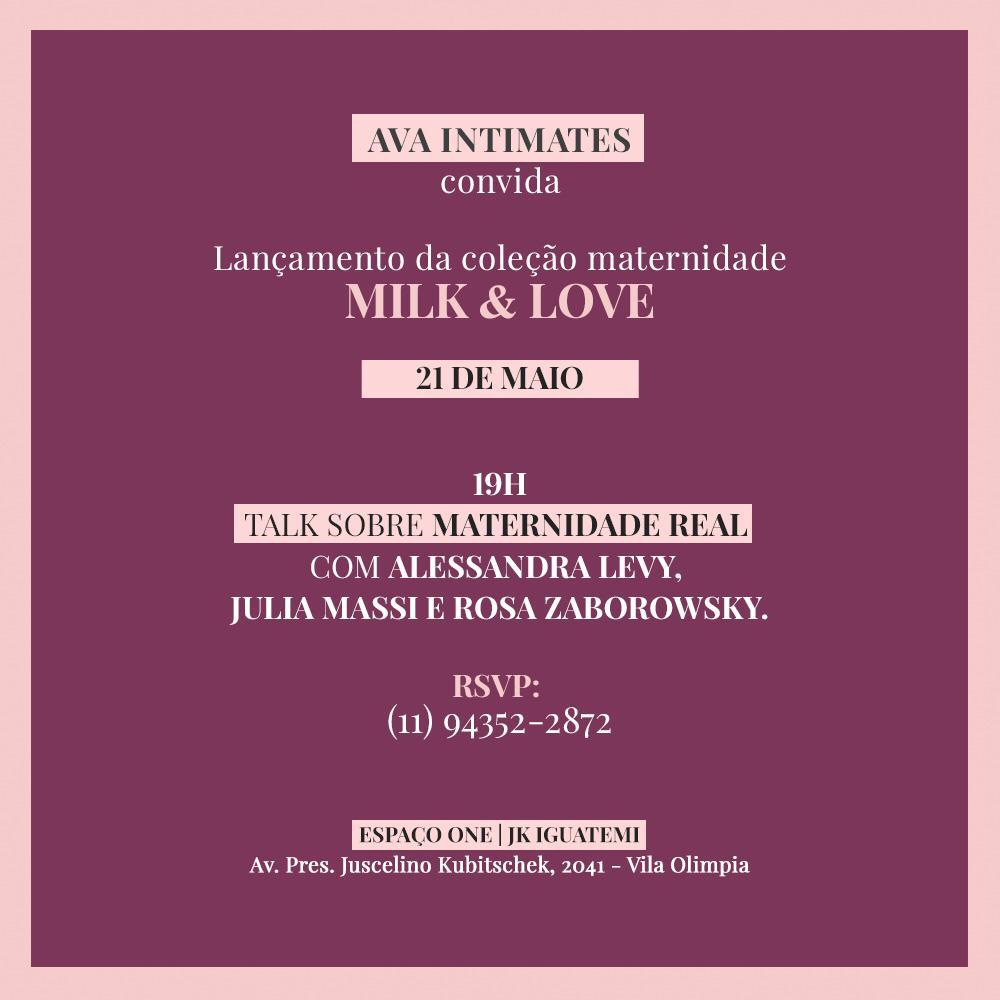 TALK AVA - Interview: Um papo com Letícia Romão, Founder da Ava Intimates. PS: Tem Talk Amanhã!