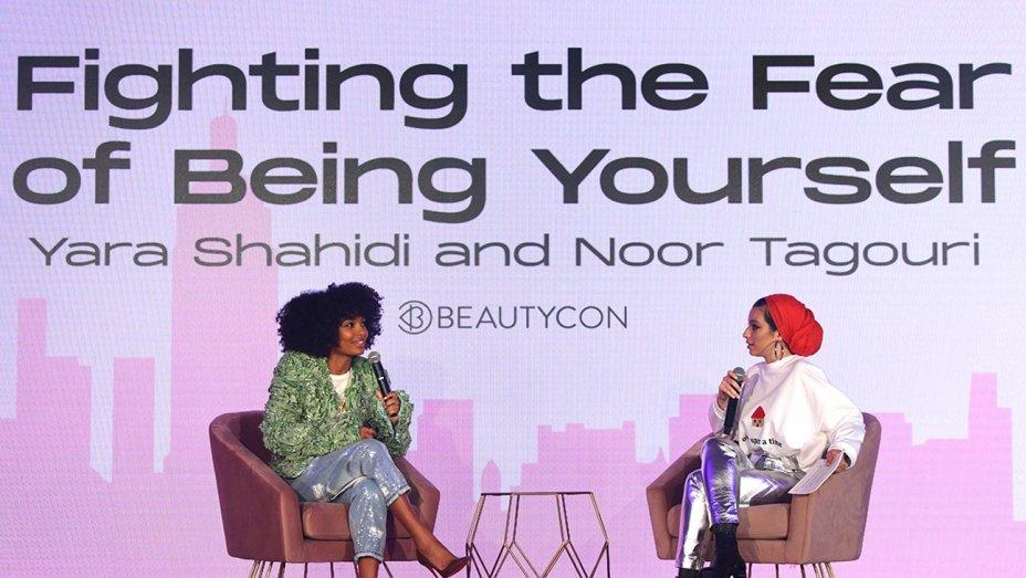 yara shahidi and noor tagouri speak on stage at beautycon festival new york 2019 getty h 2019  - My Girl Crush: Yara Sahidi