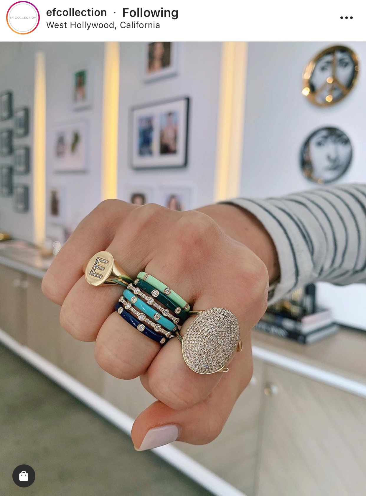 Esse anel de dedinho e as alianças coloridas, um de cada por favor.  From @efcollection