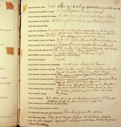 Proust questionnaire