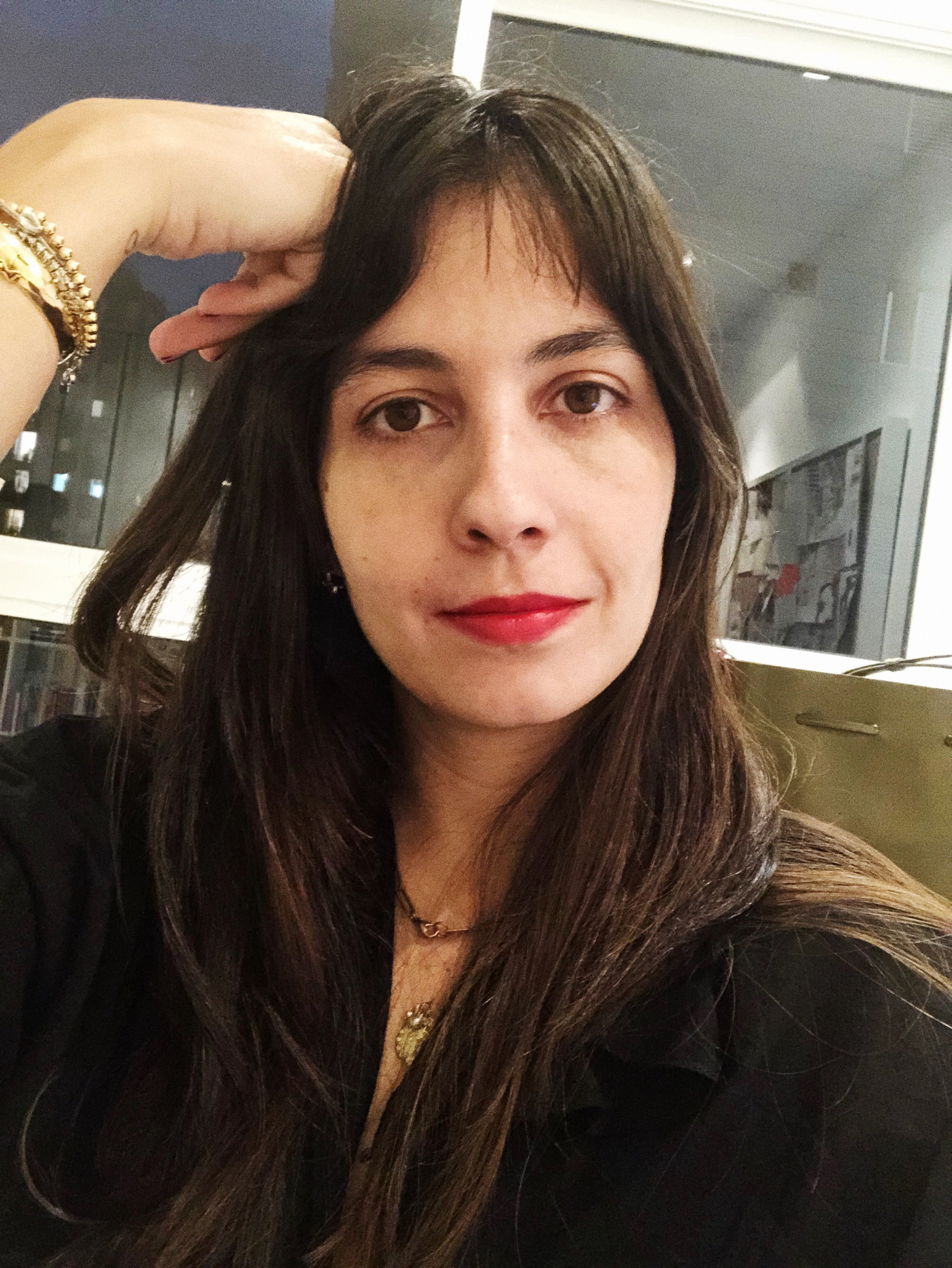Rosa, our Editor in Rouge Dior 999