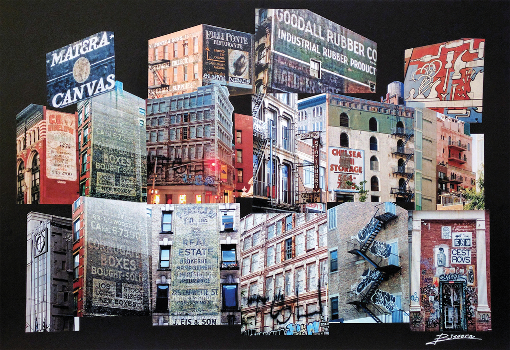 bissera antikarov - Artist/Architect/Designer, European born and bread die-hard long-time New Yorker with passion for NYC buildings, structures, and cityscape. My photo collage art work is about the OTHER New York - the NYC we don't notice or appreciate and mostly ignore or turn away from. It's about the bridges, barges, cranes and structures, rusty pipes and hydrants, washed-out brick walls and signature NYC water towers still defining our skyline. It's about the city infrastructure that holds it all together, most of which is sculptural in form and quite artistic in expression with its colors, curves, and volumes. It's about seeing the ART in city Infrastructure - or Infrastructure as ART. As an architect by background and artist by heart, I see these pieces of our city, always fascinated by their images, shapes, and colors. I love the process of discovery, interpretation, and revealing these