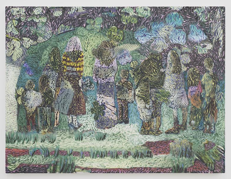 Reunion II , 2017, oil on canvas, 30 x 40 in/76.2 × 101.6 cm