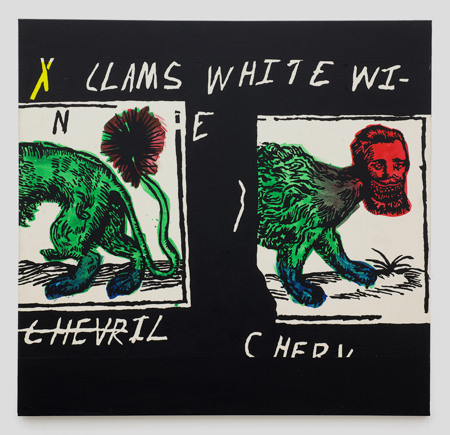 Patrick Groth - Clams, White Wine, Chervil, 2017Acrylic on canvas54 × 56 in/137.16 × 142.24 cmContact for price