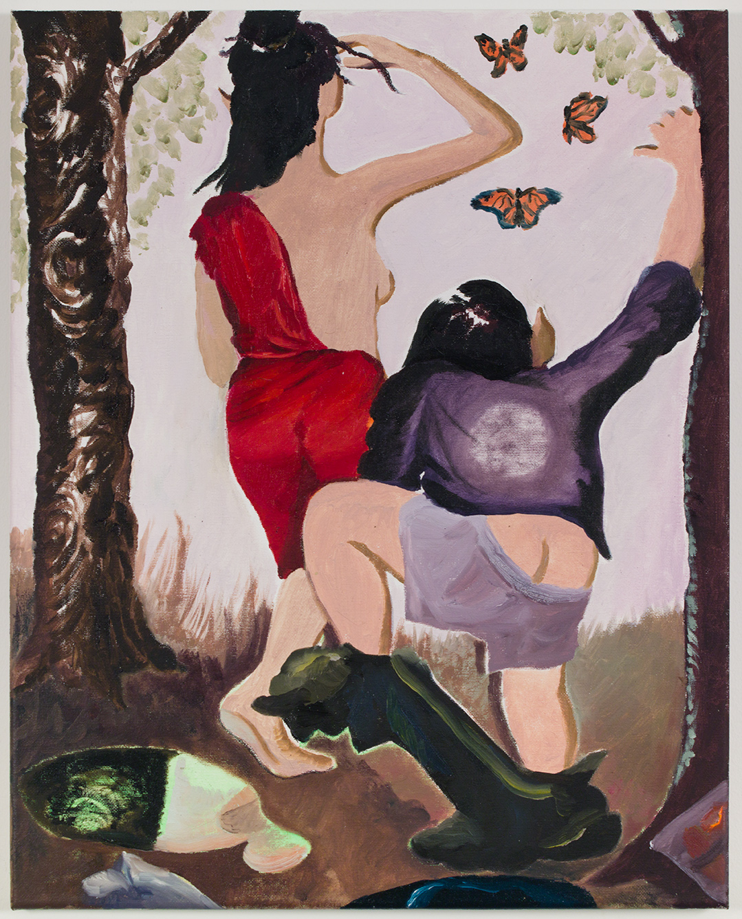 Beauty and the Klutz , 2019, oil on canvas, 20 x 16 in/50.80 x 40.64 cm