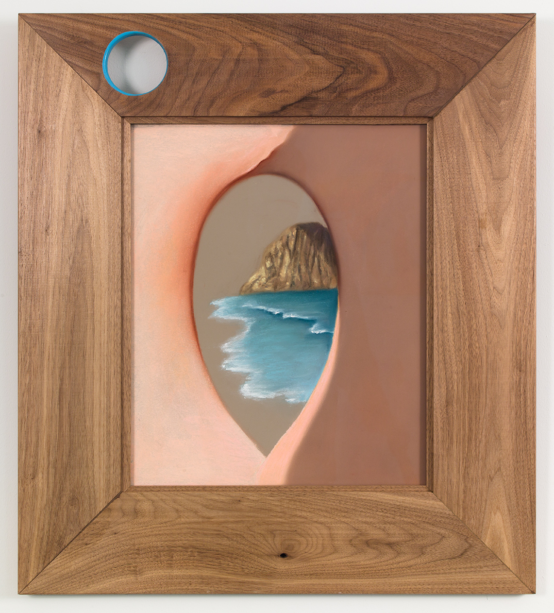 Erockita , 2018, soft pastel on paper with custom walnut frame Image: 17 ¾ × 14 ½ in/45.09 × 36.83 cm Overall: 29 × 25 ¾ in/73.66 × 65.41 cm