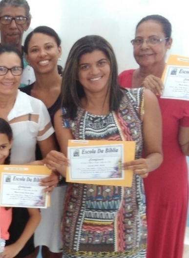 Brazil - Certificates are given to those completing courses at the School of The Bible