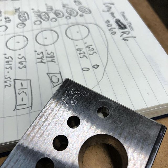 Dialing in the #a2dowelplate  This is revision 6 for the bores. As I send this I'm on Rev 7 to dial in the last of 17 bored holes.  Look forward to completing many over the next few days and send them on to heat treatment and then grinding and packaging.  If you're interested in getting a discount code of 1️⃣0️⃣% when they hit Amazon please sign up for my email list in my bio link. Top link.