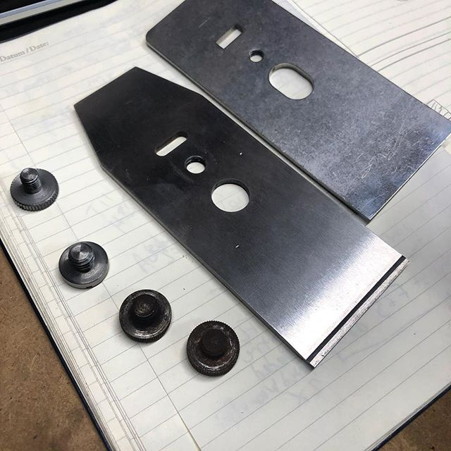 More chipbreaker study. A very simple but important part of planing wood well. These will likely be next after the dowel plates. Looking forward to releasing the chip breakers with my powder metal blades for bench planes 4 and 5.  If you're interested in knowing when these come out and get a 10% discount, please sign up in my bio link.