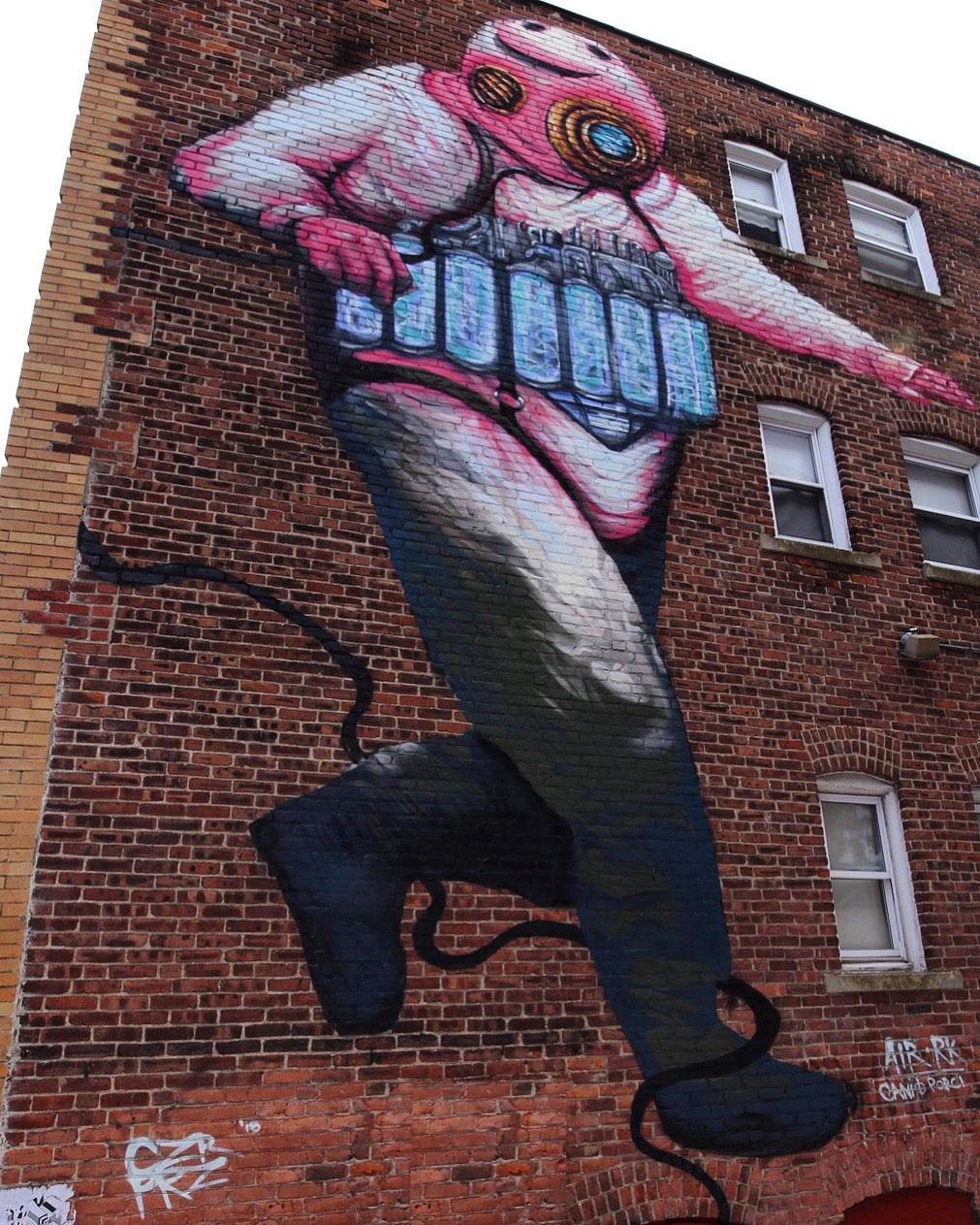 DIMENSION DIVER  Punto Urban Art Museum Mural Festival 37' x 25' Salem, MA  2018