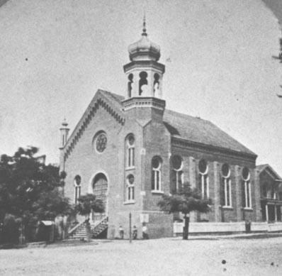 Temple Beth israel's fist sanctuary, ca. 1877