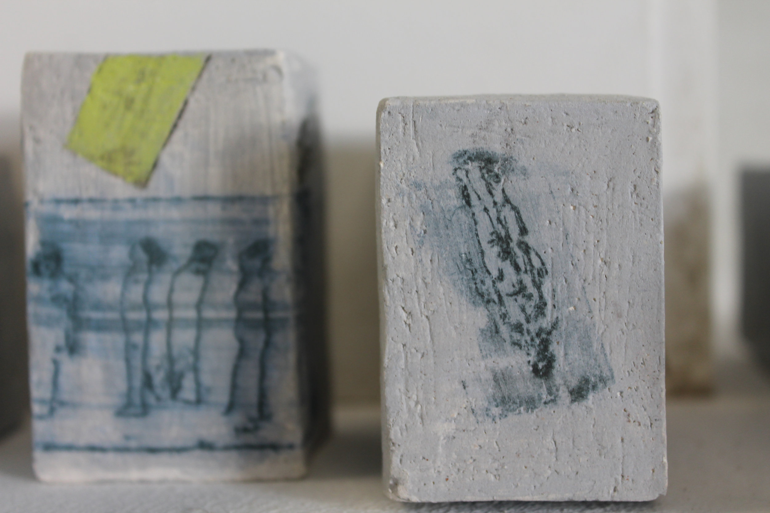 Colliding Forms, Collaboration with Helen Lavery (Ceramic Bricks, Handprinted Etchings).jpg