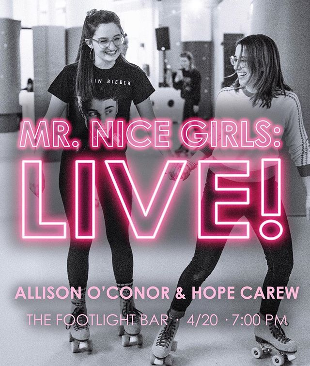 We've finally made it to Broadway!!!! Okay, more like Ridgewood, but close enough.  We can't wait to share the very first Mr. Nice Girls LIVE SHOW with all of our #devoted #fans in New York City!!! Saturday, 4/20 at 7:00 at The Footlight!!!! Ticket link in bio!!! 🤪🤪🤪 (photo by @dylanbeckman poster by @aviewfromthebrigid)