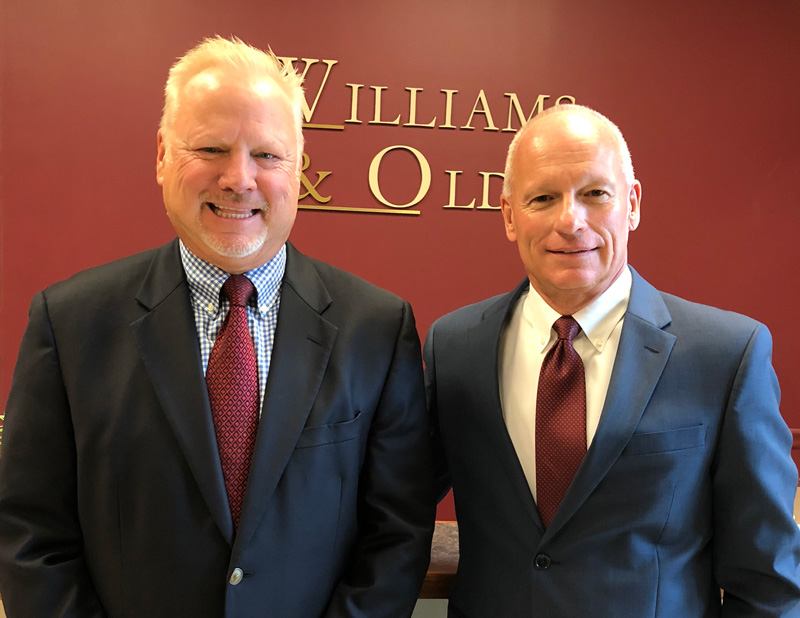 Williams & Olds principals: James B. Williams, M.S.T., C.P.A and Steven J. Olds, C.P.A.