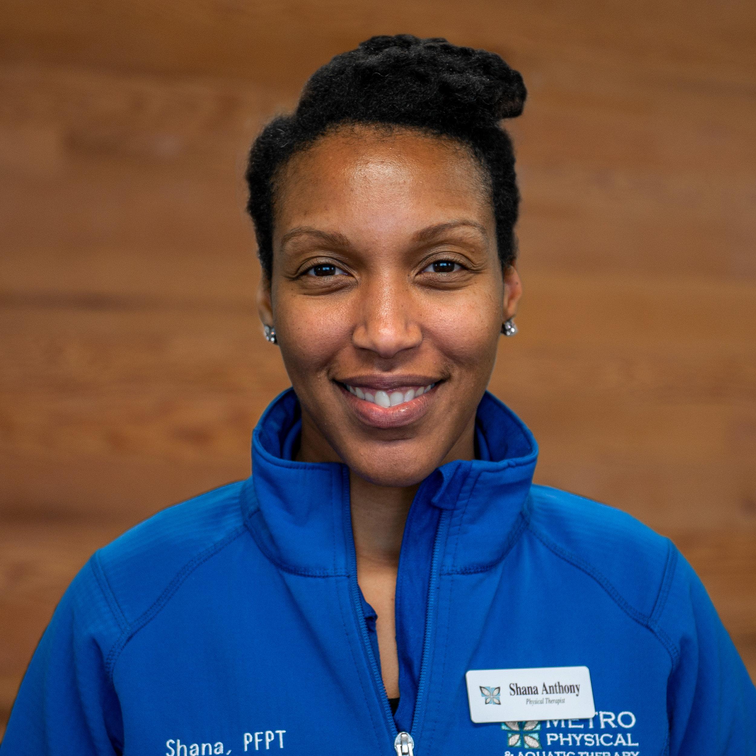 Shana Anthony, PT, DPT, GTS - Women's & Men's HealthPelvic Floor DysfunctionOrthopedicSports/DanceManual Therapy