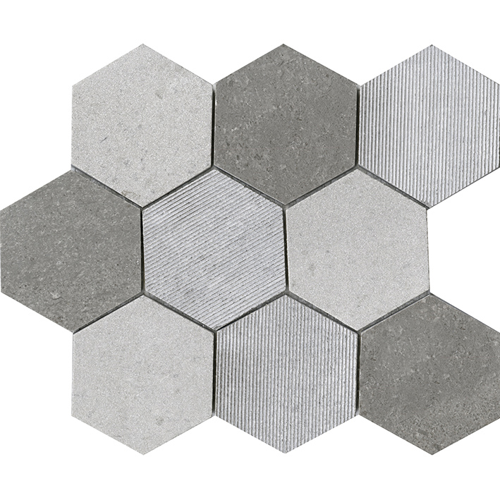 World Hexagon Texture Grey